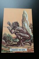 Aboriginal Postcard Pointing The Bone