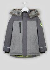 Boys  BNWT Grey Panelled Parka School Coat age 4 5 6 7 8 9 Matalan