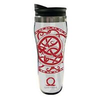 God of War 13.5oz Insulated Travel Mug, White, Red