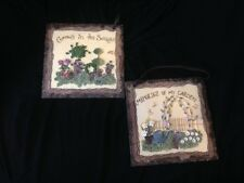 Resin Wall Plaques Set Of 2 Garden Floral Designs