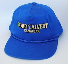 LORD CALVERT CANADIAN Whisky One Size Snapback Blue Flat Brim Baseball Cap Hat
