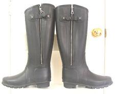 Hunter Limited Rag & Bone Black Rubber Rain Zipper Boots US 7 EU38 Gummistiefel