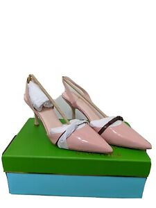 Kate Spade New York Womens Sibelle Pointed Toe SlingBack, Shell Pink Patent 10M