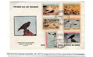 Galapagos Islands Cover FDC 1977 Birds of Galapagos Islands Fitst Day Cover