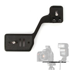 "Mini Dual 1/4""Screw Mount Flash Camera Bracket for DSLR Speedlite Tripod Stand"