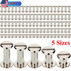 100 Pack Silvery Chicago Screws Metal Screw Posts Nail Rivet for Leather Crafts