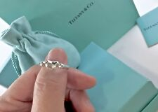 Tiffany & Co.m 925 Silver Small Bean  Ring Peretti  Size 6  w/ Pouch
