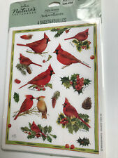 Marjolein Bastin Christmas Stickers Cardinal Sketchbook Vtg Hallmark Mint Nip!