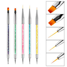 5pcs Painted Nail Art Tools Sequined Double-headed Point Drill Wire Drawing Pen