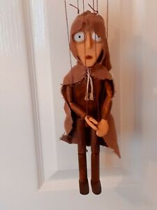 Czech Marionette traditional hand made wooden string puppet PIED PIPER