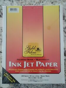 "Gold Fibre Ink Jet Glossy Photo Printer Paper 8 1/2 x 11"" 100 Sheets US Made"