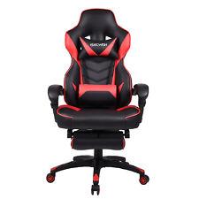 ELECWISH Office Gaming Chair Racing Recliner Bucket Seat Computer Desk Footrest