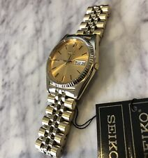 Seiko SGF206 Gold 'Datejust' Watch New - UK