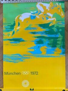 Plakat / Poster Olympische Spiele München 1972 Otl Aicher DIN A0 Reiten