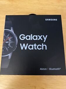 Samsung Galaxy Watch SM-R805U 46mm Silver Case Black Strap Smart Watch