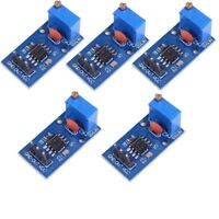 5Pc NE555 Frequency Adjustable Pulse Generator Module 5-12V with Power Indicator