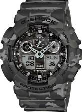 Casio G-Shock Watch, GA-100CM-8AER, Grey Camo Case, Digital/Analog, Stopwatch