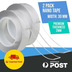 2 Pack Double Sided Nano Tape Clear Adhesive Traceless Invisible Gel Anti-Slip