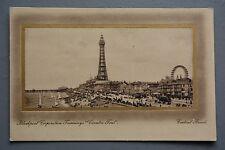 R&L Postcard: Blackpool Central BeachRaphael Tuck Gold Frame Sepia