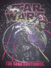 Star Wars X Wing Fighter Darth Vader Longsleeve Hoodie T Shirt Boys Size XL