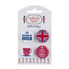 British Pin Badges Teacup, Keep Calm & drink Tea, God Save the Queen, Union Jack