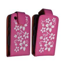Housse coque étui rose fushia motif fleurs pour Blackberry Curve 8520 + film de