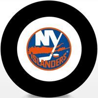 New York Islanders 1972 Inaugural NHL Season Logo Vintage Souvenir Hockey Puck
