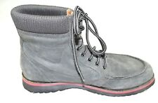 Diesel AWOL Men's Gray Winter Boots Size 12.5 Leather Suade lace up excellent!