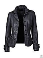 New Women's Genuine Lambskin soft Leather Motorcycle Slim fit Biker Jacket