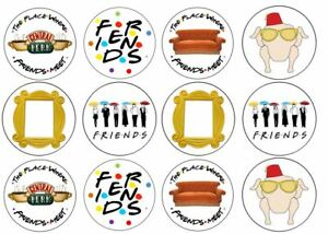 Friends Theme Edible Wafer Cup Cake Disc Topper