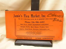Money Change Bank Bag Advertising Jamie's Flea Market South Amherst OH