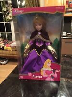 "NEW NRFB 2003 DISNEY PRINCESS BRASS KEY PORCELAIN 16"" AURORA DOLL"