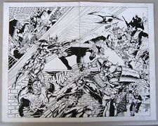 Original Comic Art: Vampirella/Shadowhawk #1, Image, 1995. Double Page Splash.