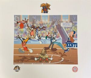 Looney Tunes Univ Kentucky Wildcats NCAA Basketball Litho Bugs Taz Toon Art