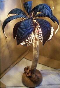 Coconut Tree lamps Lighting, Coconut Shell + home decoration, handmade