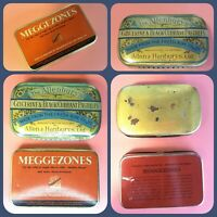 2 Vintage Tins Made In England Meggezones Cough Drops & Allenburys Pastilles EUC