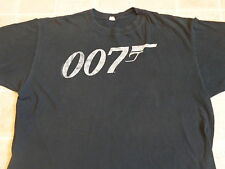 JAMES BOND 007 gun logo T-SHIRT XXL distressed faded print official movie promo