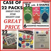 —-JOBLOT—-CASE OF 22 PACKS,PONGO 3D GEL CAR AIR FRESHENERS,3 DESIGNS,6 SCENTS