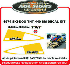 1974 SKI-DOO T'NT 440 SM  Reproduction Decal kit  graphic 340 SM