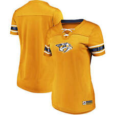 Nashville Predators Women's Jersey Style Shirt NHL Majestic Shirt Size (L)