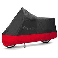 L Red Outdoor Large Motorcycle Motorbike Waterproof UV Dust Protector Rain Cover