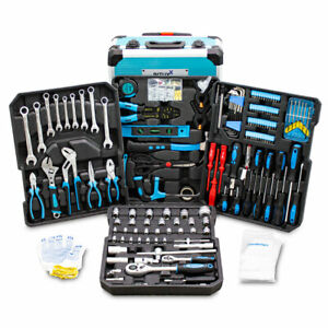 BITUXX Werkzeugkoffer 1200 tlg Werkzeugkasten Werkzeugset Werkzeugtrolley B-Ware