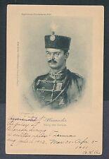 Serbia 1903 King Alexander artist signed E. Klingebeil unused picture postcard