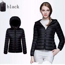 Women Winter Warm Hooded Jacket Padded Down Coat Long Parka Ladies Short Outwear