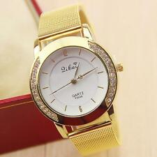 Fashion Elegant brand luxury Gold watch Classic Womens Quartz Wrist Watch