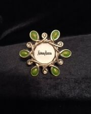 Jay Strongwater Neiman Marcus Mini Picture Frame/Clip Green Enamel Crystal Gold