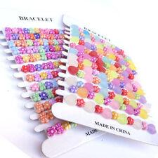 12 Pink Princess Flower Bracelets Girls Party Bag Loot Bag Fillers Party Toys P