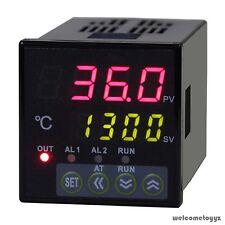 116 Din Dual 4 Digit Digital Pid Temperature Controller Thermocouple Ssr 40da