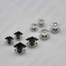 Square Crystal Magnet Stud Earrings - Magnetic Mens Womens Fashion - NEW
