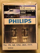 Genuine Philips 4000K T10 W5W LED Bulbs for Parking Lights ~Newest Generation~